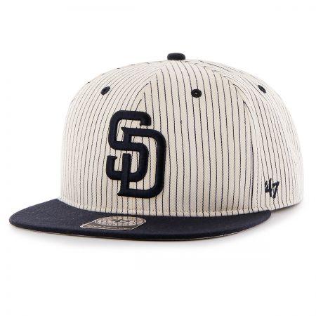 47 Brand San Diego Padres MLB Woodside Stripe Snapback Baseball Cap