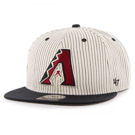 47 Brand Arizona Diamondbacks MLB Woodside Stripe Snapback Baseball Cap