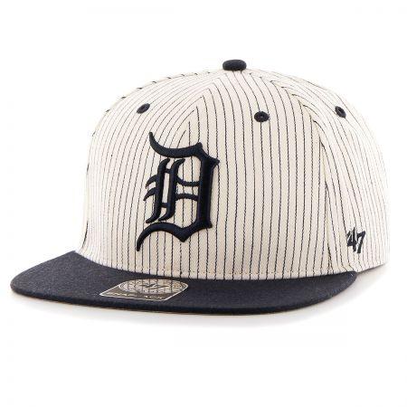 47 Brand Detroit Tigers MLB Woodside Stripe Snapback Baseball Cap