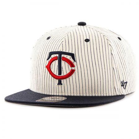 47 Brand Minnesota Twins MLB Woodside Stripe Snapback Baseball Cap