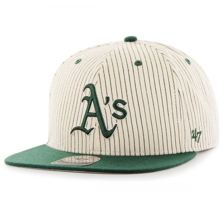 47 Brand Oakland Athletics MLB Woodside Stripe Snapback Baseball Cap