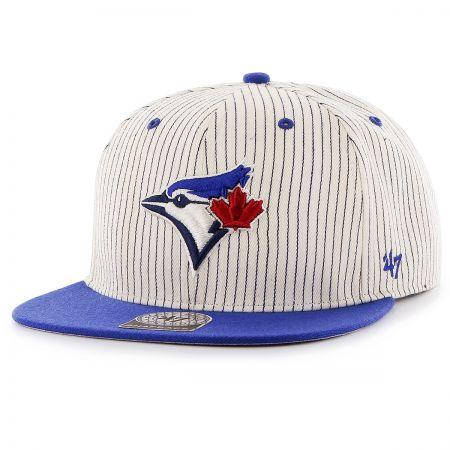 47 Brand Toronto Blue Jays MLB Woodside Stripe Snapback Baseball Cap