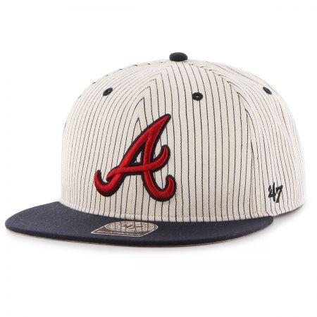 47 Brand Atlanta Braves MLB Woodside Stripe Snapback Baseball Cap