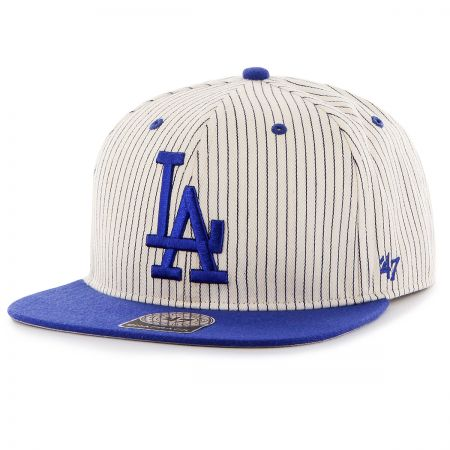 47 Brand Los Angeles Dodgers MLB Woodside Stripe Snapback Baseball Cap