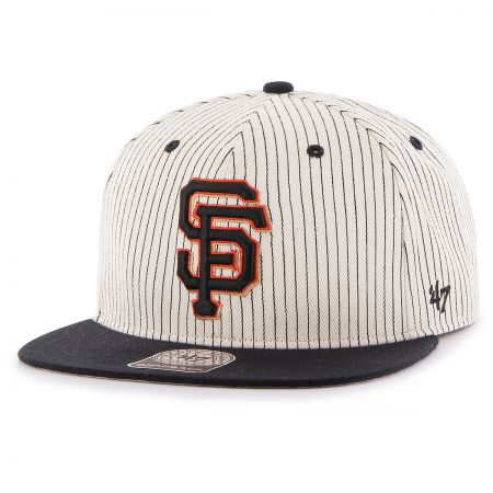 San Francisco Giants MLB Woodside Stripe Snapback Baseball Cap alternate view 1