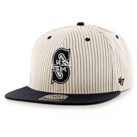 47 Brand Seattle Mariners MLB Woodside Stripe Snapback Baseball Cap