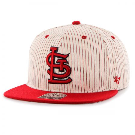 St. Louis Cardinals MLB Woodside Stripe Snapback Baseball Cap alternate view 1
