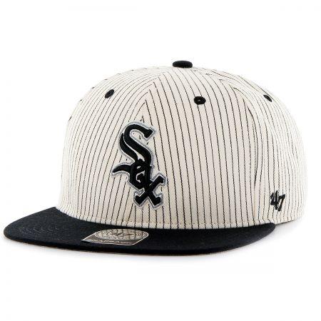 47 Brand Chicago White Sox MLB Woodside Stripe Snapback Baseball Cap