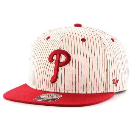 47 Brand Philadelphia Phillies MLB Woodside Stripe Snapback Baseball Cap