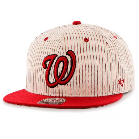 47 Brand Washington Nationals MLB Woodside Stripe Snapback Baseball Cap