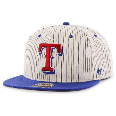 47 Brand Texas Rangers MLB Woodside Stripe Snapback Baseball Cap