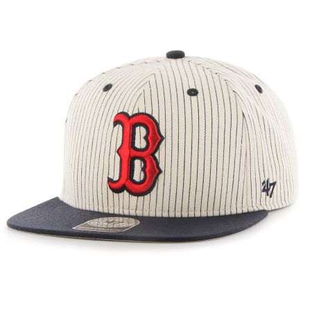 47 Brand Boston Red Sox MLB Woodside Stripe Snapback Baseball Cap