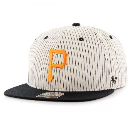 47 Brand Pittsburgh Pirates MLB Woodside Stripe Snapback Baseball Cap