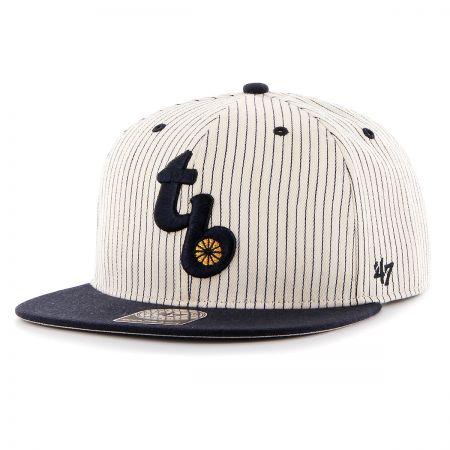 47 Brand Tampa Bay Rays MLB Woodside Stripe Snapback Baseball Cap