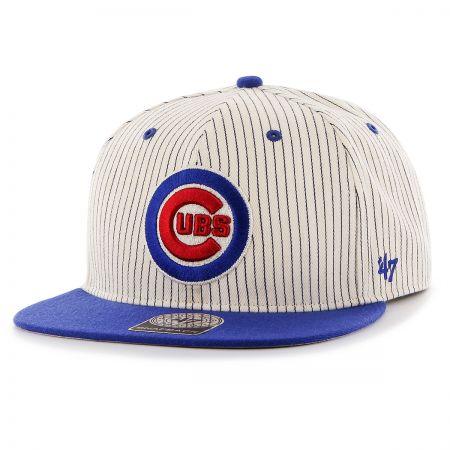 47 Brand Chicago Cubs MLB Woodside Stripe Snapback Baseball Cap