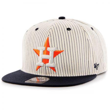 47 Brand Houston Astros MLB Woodside Stripe Snapback Baseball Cap