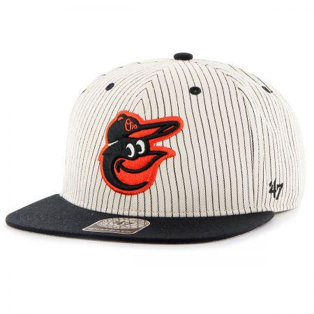 47 Brand Baltimore Orioles MLB Woodside Stripe Snapback Baseball Cap