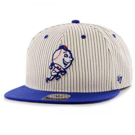 47 Brand New York Mets MLB Woodside Stripe Snapback Baseball Cap