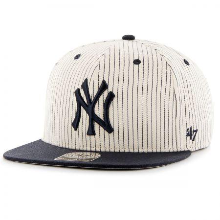 47 Brand New York Yankees MLB Woodside Stripe Snapback Baseball Cap