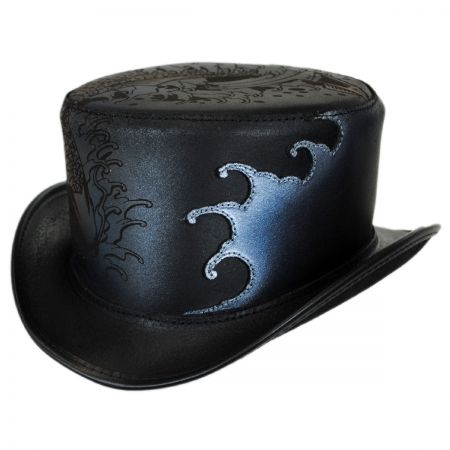 Head 'N Home Splash Leather Top Hat