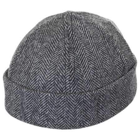 Six Panel Herringbone Wool Skull Cap Beanie Hat alternate view 4