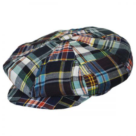 Capas Headwear Madras Patchwork Cotton Big Apple Cap
