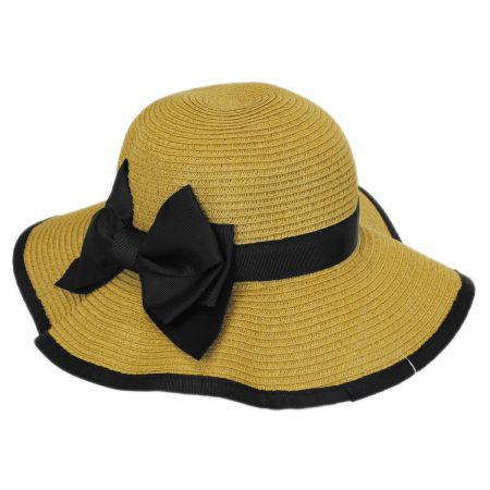 Jeanne Simmons Toddlers' Toyo Straw Sun Hat with Bow
