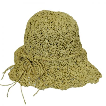 Jeanne Simmons Kids' Shell Crochet Toyo Sun Hat