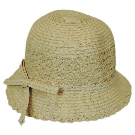 Jeanne Simmons Kids' Toyo Braid Cloche Hat