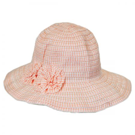 Jeanne Simmons Child's Gingham Ribbon Sunhat