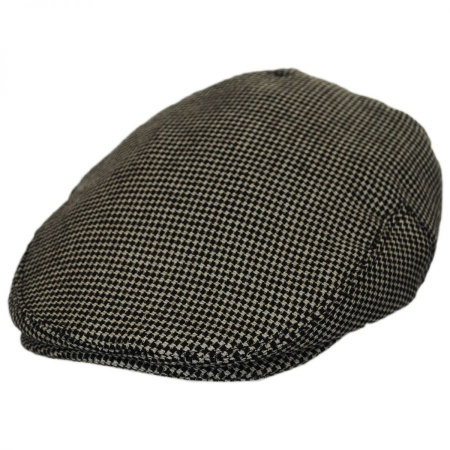 B2B Baskerville Hat Company Merripit Houndstooth Italian Wool Ivy Cap