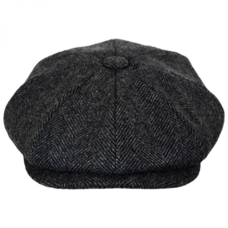 B2B Baskerville Hat Company Coombe Herringbone Newsboy Cap