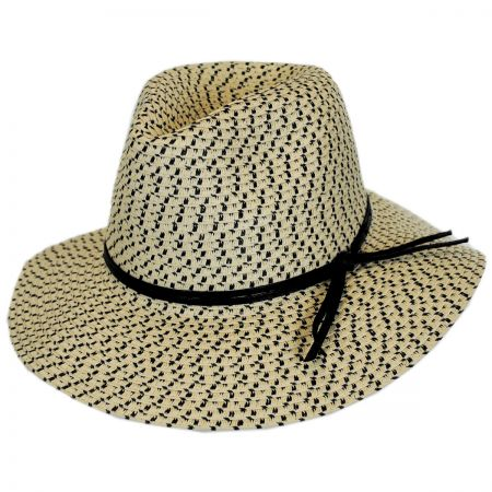 Karen Keith Toyo Straw Tweed Safari Hat
