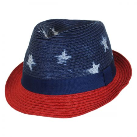 Scala Kid's Freedom Toyo Straw Fedora Hat