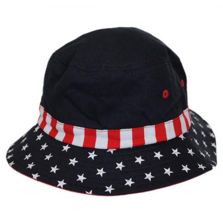 Kids' Stars and Stripes Cotton Bucket Hat