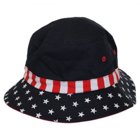 Scala Kid's Stars and Stripes Bucket Hat