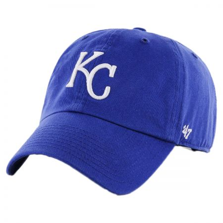 47 Brand Kansas City Royals MLB Kids' Clean Up Strapback Baseball Cap Dad Hat
