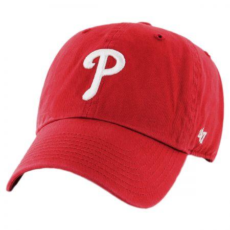 47 Brand Philadelphia Phillies MLB Kids' Clean Up Strapback Baseball Cap