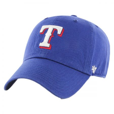 47 Brand Texas Rangers MLB Kids' Clean Up Strapback Baseball Cap Dad Hat