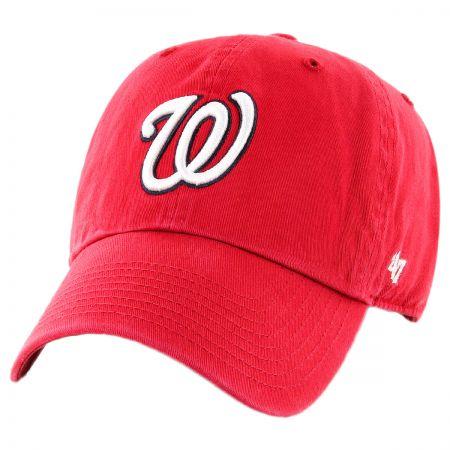 47 Brand Washington Nationals MLB Kids' Clean Up Strapback Baseball Cap Dad Hat