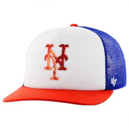 47 Brand New York Mets MLB Glimmer Snapback Baseball Cap