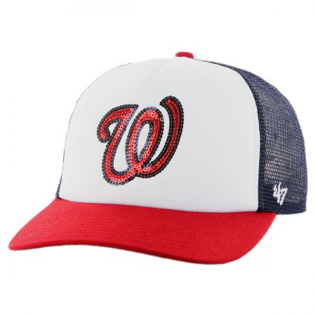 47 Brand Washington Nationals MLB Glimmer Snapback Baseball Cap