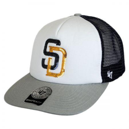 47 Brand San Diego Padres MLB Glimmer Snapback Baseball Cap
