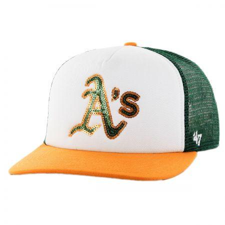 Oakland Athletics MLB Glimmer Snapback Baseball Cap alternate view 1