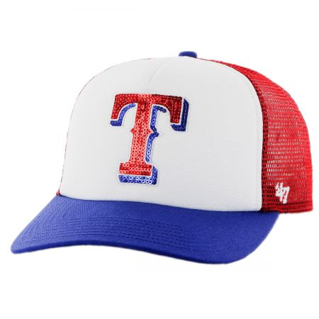 Texas Rangers MLB Glimmer Snapback Baseball Cap alternate view 1
