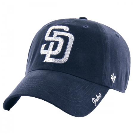a1521536e95bb9 47 Brand San Diego Padres MLB Sparkle Strapback Baseball Cap Dad Hat MLB  Baseball Caps
