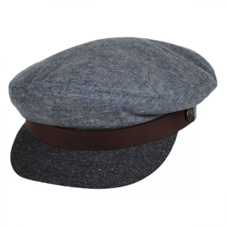Brixton Hats Fiddler Cap - Denim Bill