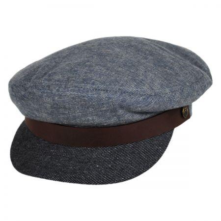 Brixton Hats Denim Bill Fiddler Cap