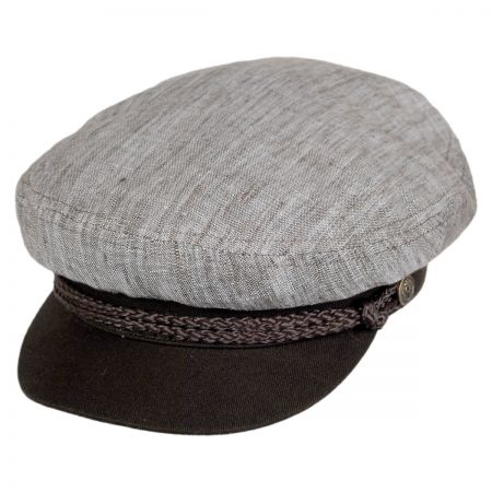 Brixton Hats Fiddler Cap - Chambray Crown