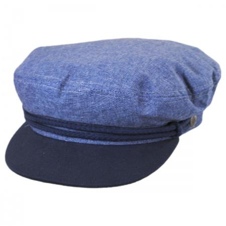 Brixton Hats Chambray Cotton Fiddler Cap